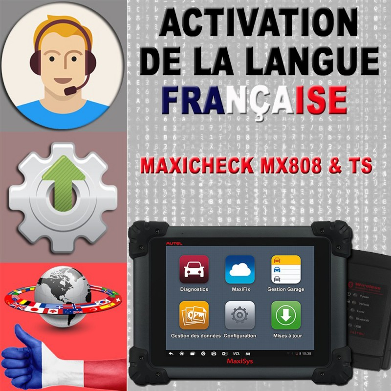 Assistance activation changement langue MX808 / TS608